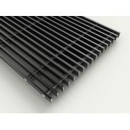 Lineær rist  - Sort - 18 x 5 x 175 mm ( pr. lb. m. )