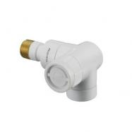 Thermostatventil Angular, HVID, højre - ½
