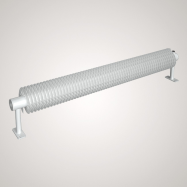 Ribberør RA1 - 57x2,5x137 mm x 5000 mm - hvid